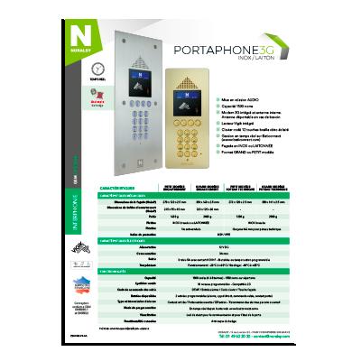 PORTAPHONE 3G INOX/LAITON