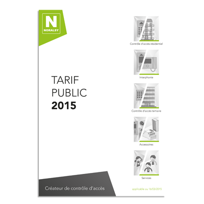 TARIF PRIX PUBLIC
