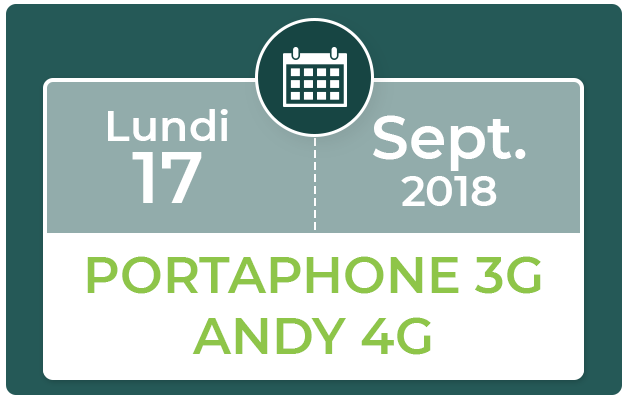 FORMATION PORTAPHONE 3G & ANDY 4G